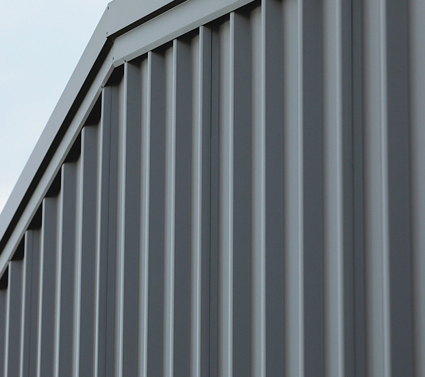 Close up of Stramit Monoclad wall cladding