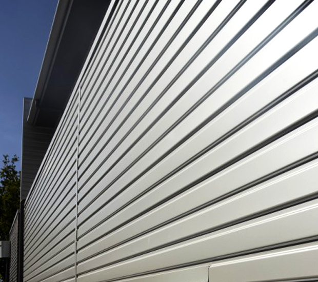 Close up of Stramit Monopanel wall cladding